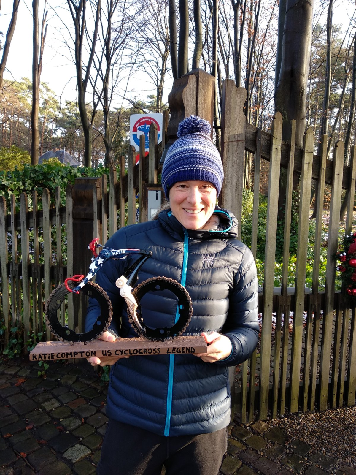 15 Times USA National Cyclo Cross Champion Katie Compton With Cyclist USA Cyclo Cross Created By Hubert Van Soest