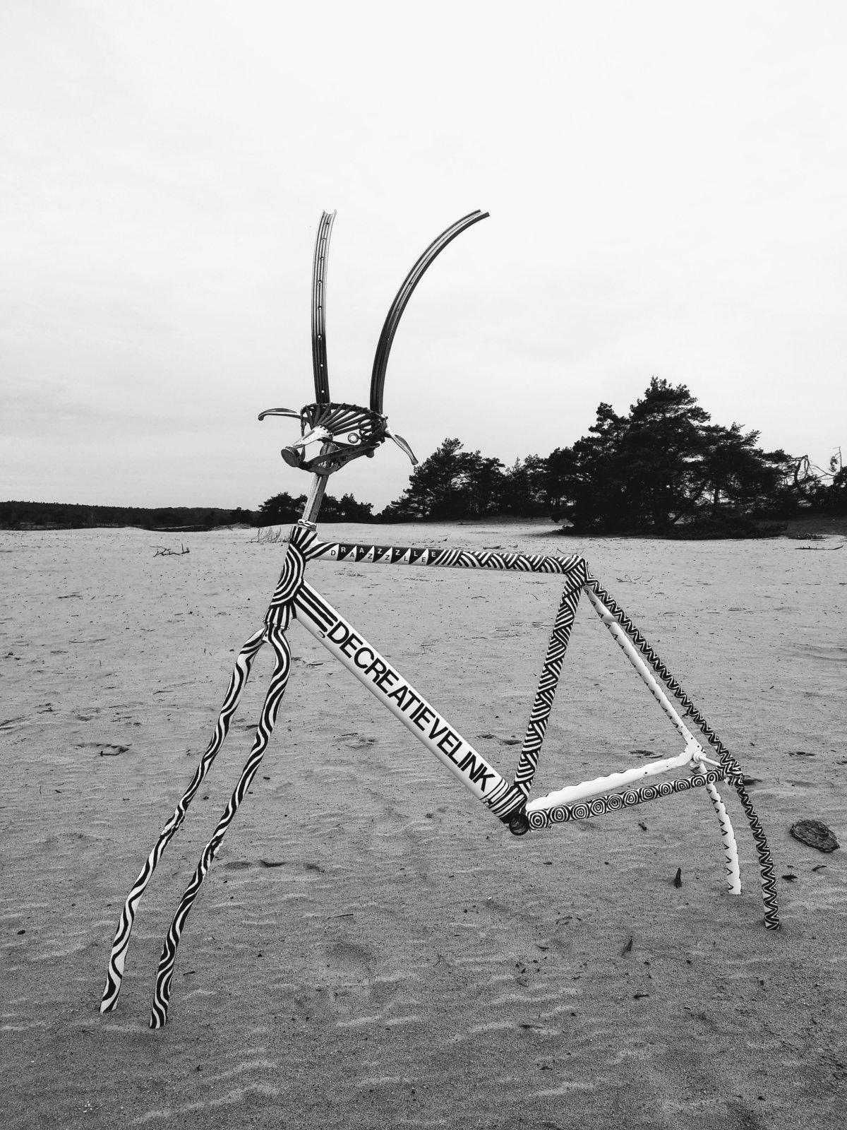 Animalized Razzle Dazzle Bicycle Art Fietskunst Decreatievelink
