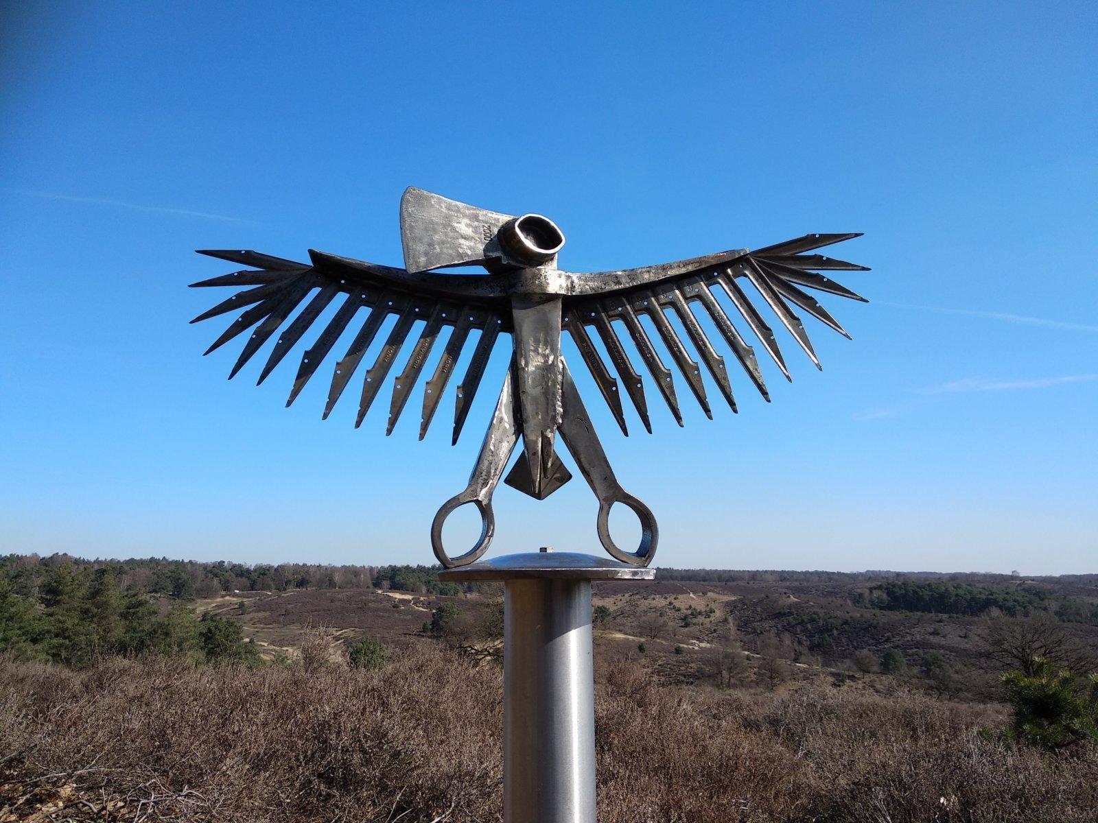Animalized Iron Eagle Recycle Art Hubert Van Soest Decreatievelink Netherlands