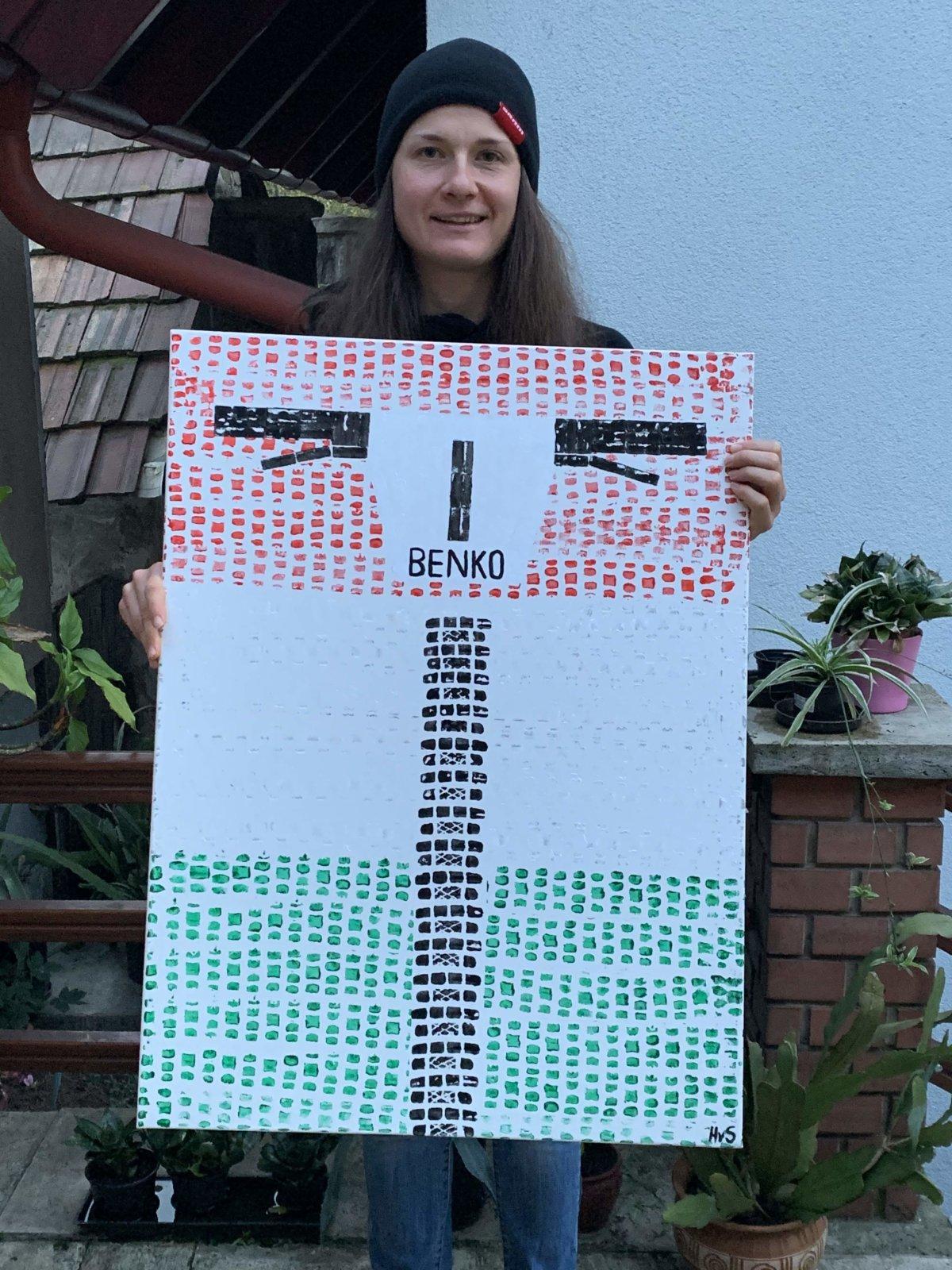 Barbara Benko Mountainbike Champion Hungary Painting By Hubert Decreatievelink Van Soest