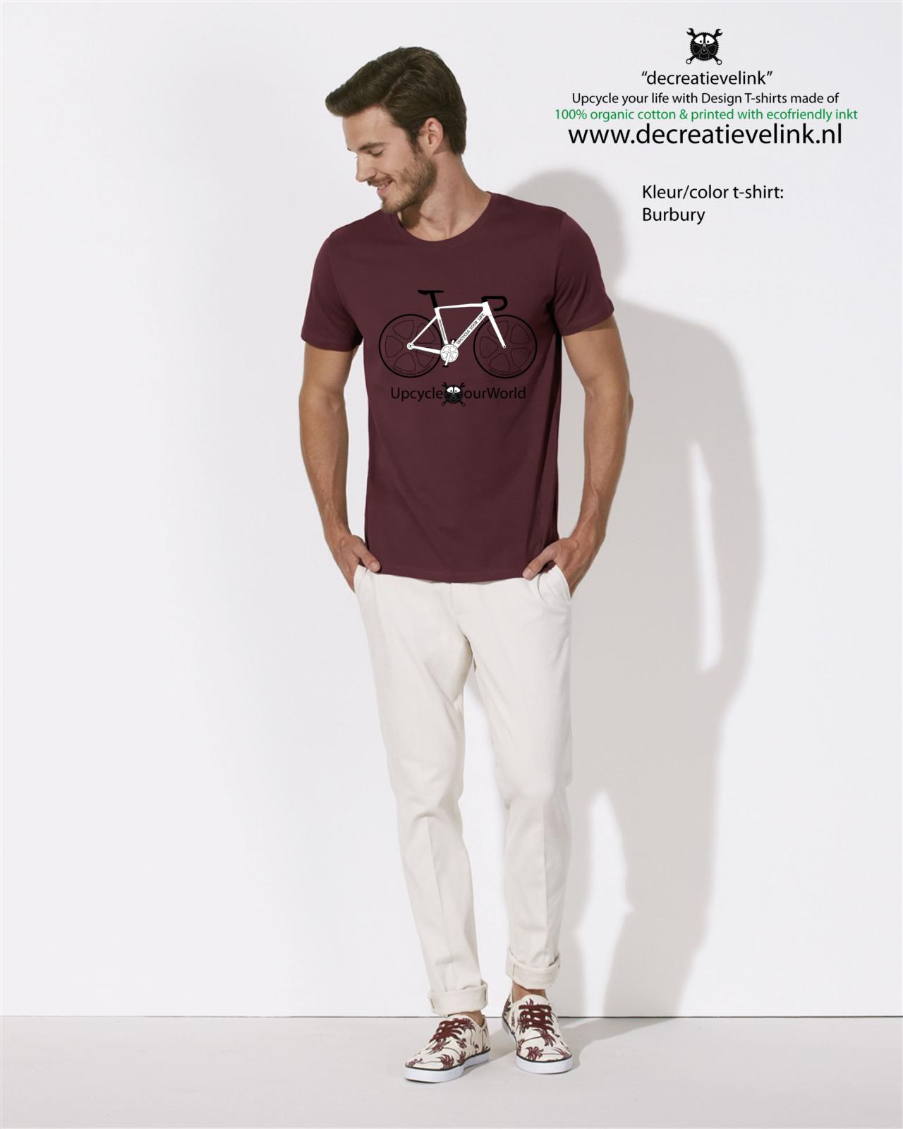 Decreatievelink Fair Wear T-shirt Kleur Burgundy