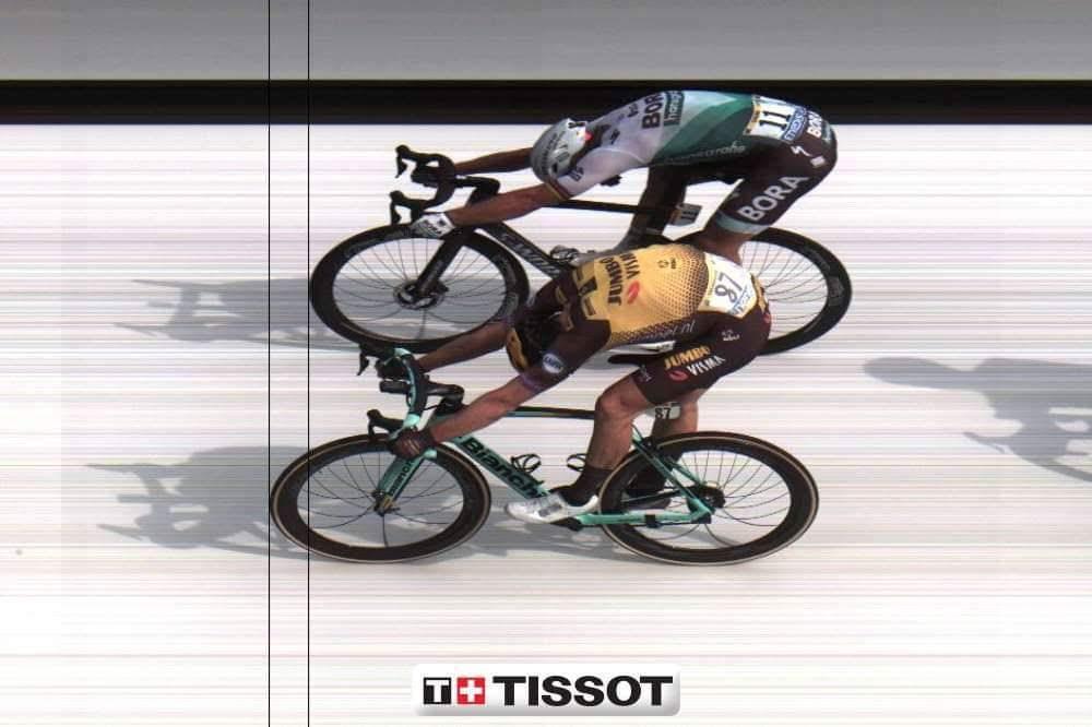 Finishfoto Mike Teunissen Wint Voor Peter Sagan