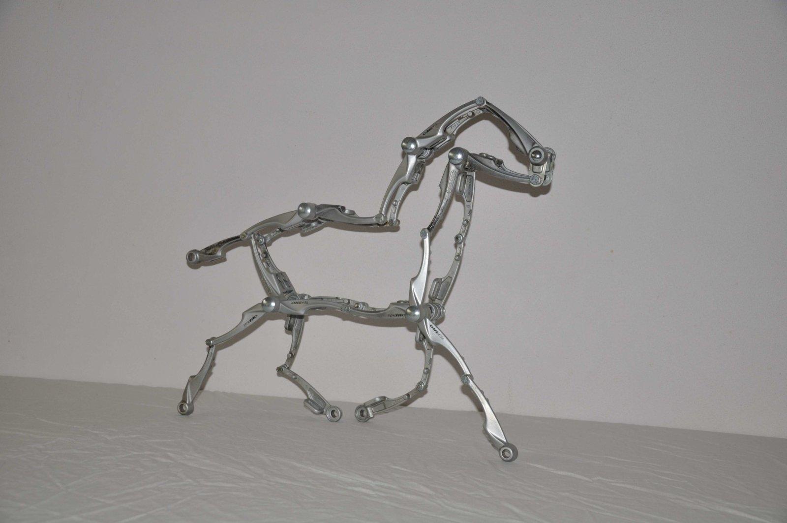 Galloperend Paard Horse Pferd Cheval Cavallo Caballo Da Vinci Decreatievelink Fietskunst
