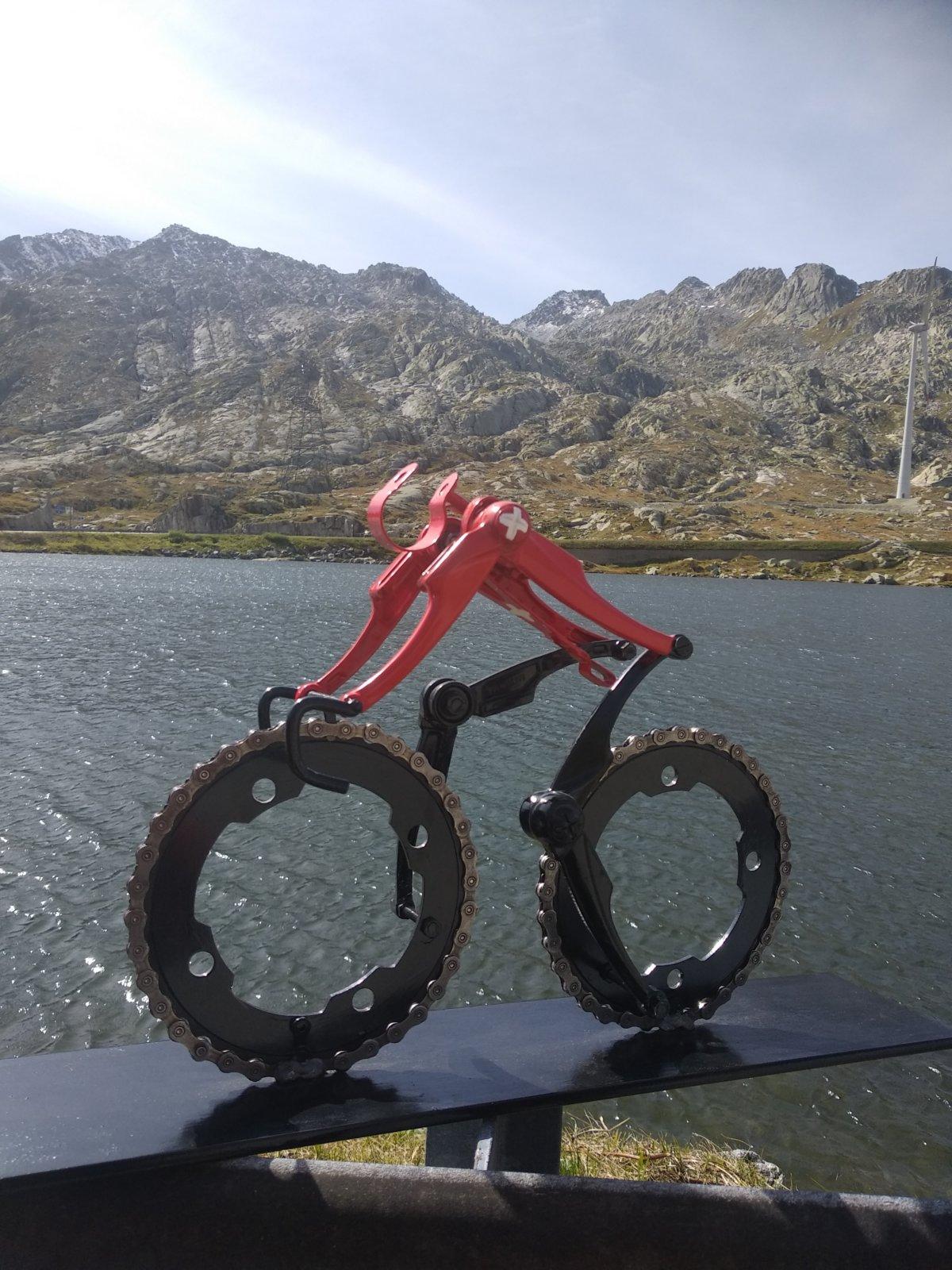 Swiss Champion Cyclist Cycling Art Decreatievelink NL