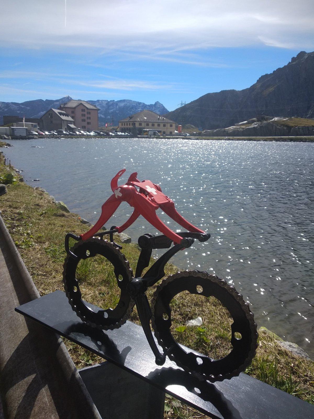 Swiss Champion Cyclist Gotthardpass Switzerland By Decreatievelink NL