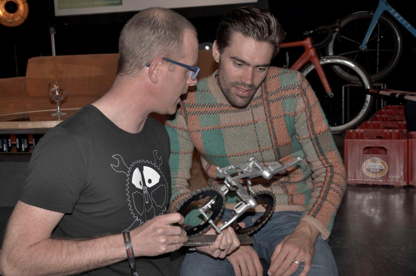 Tom Dumoulin Fietskunst Oropa Bicycle Art Cyclist