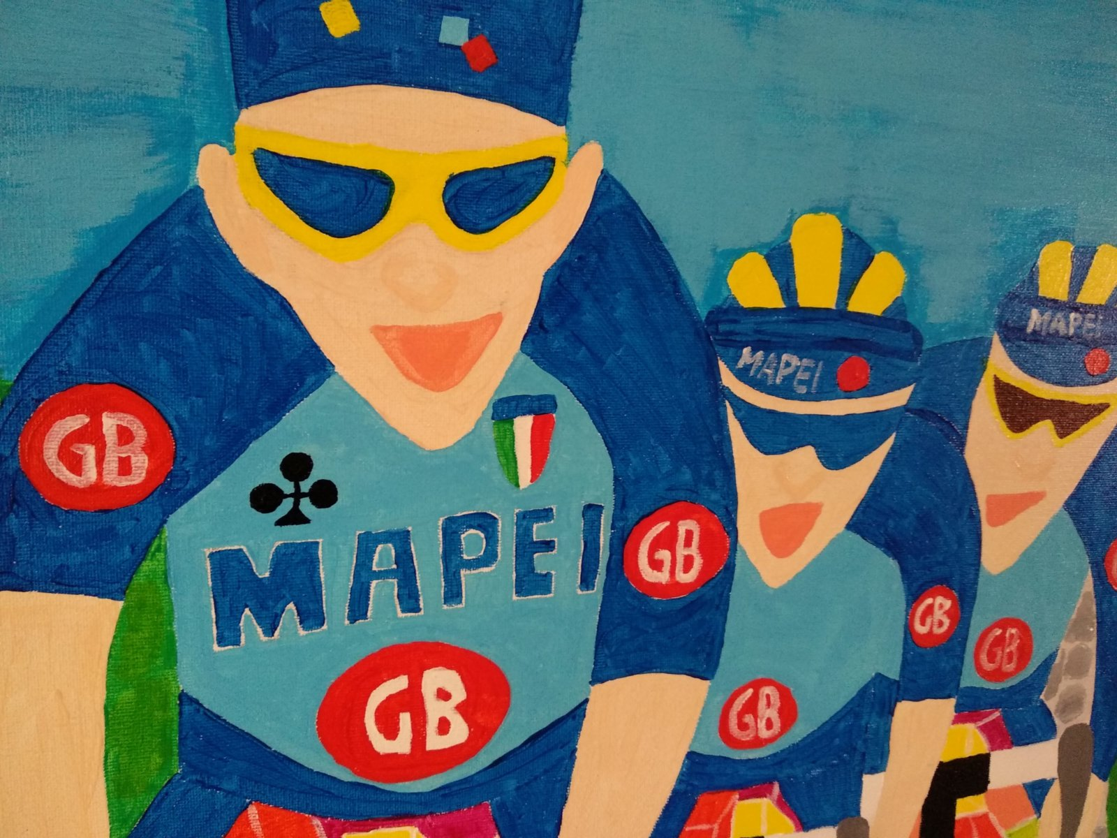 Detail Painting Museeuw Bortolami Naar Roubaix 1996 Created By Decreatievelink