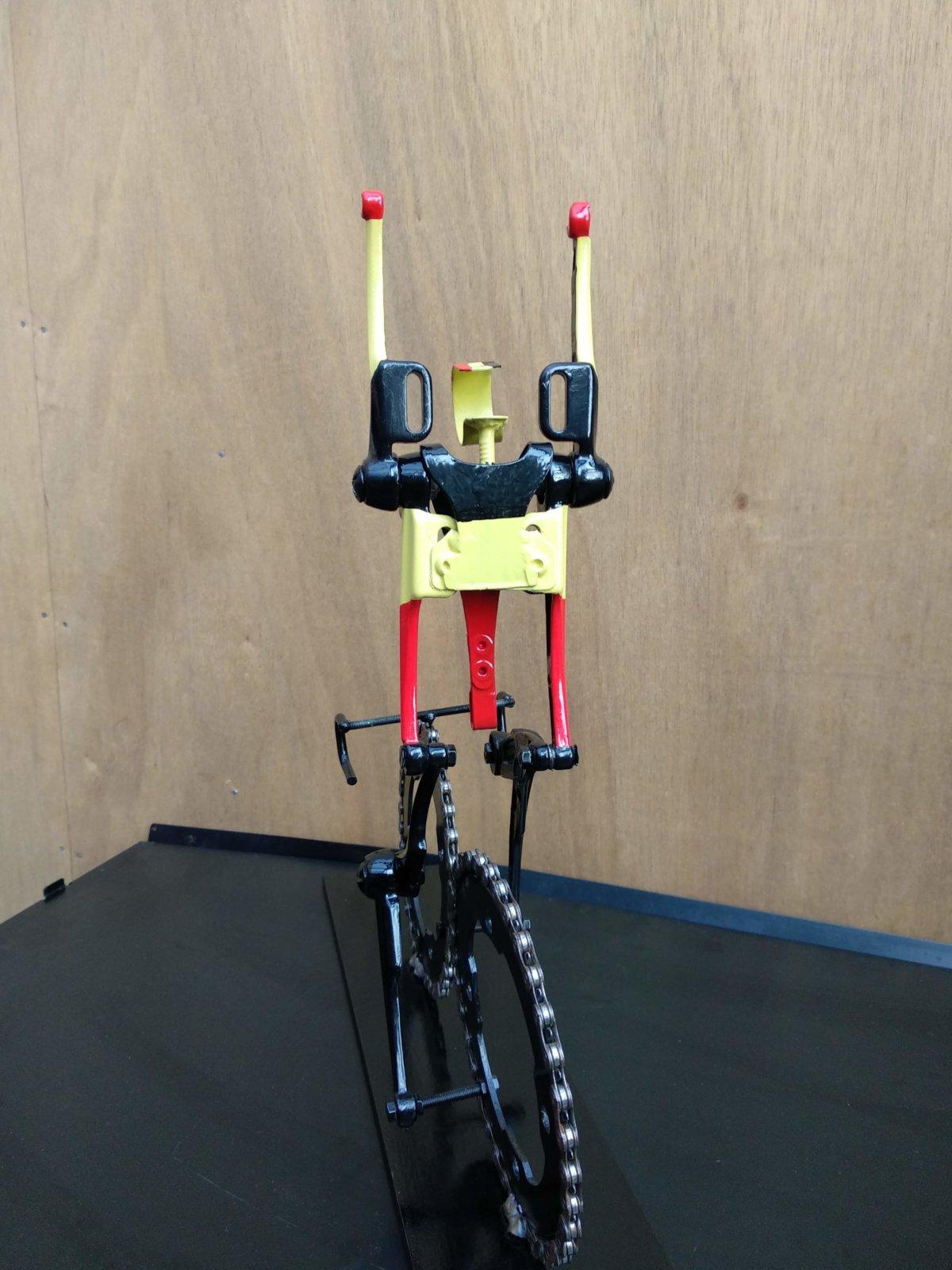 Rear View Of Belgian Cyclist Bikeart Created By Hubert Van Soest