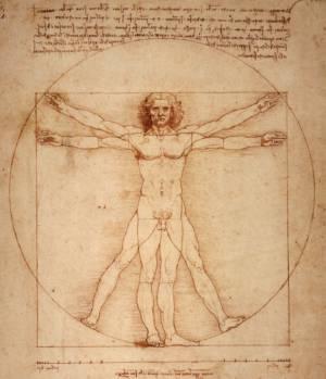 1487~ Da Vinci - Vitruvian Man