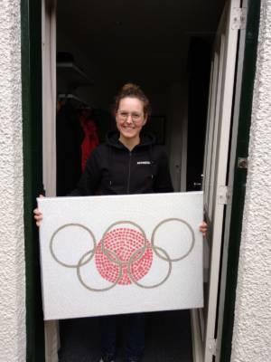 Anne Terpstra Mountainbike Team Ghost Met Fietskunstwerk Olympische Droom Decreatievelink