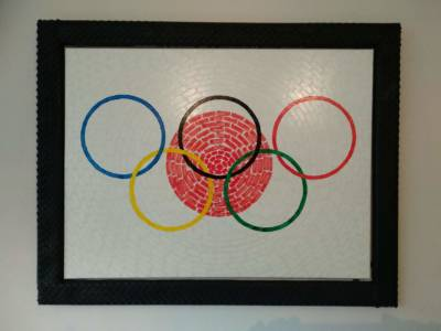 Cyclingart Painting Olymic Games Tokyio 2021 Created By Hubert Decreatievelink Van Soest