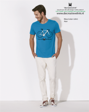 Decreatievelink Fair Wear T-shirt Kleur Azur