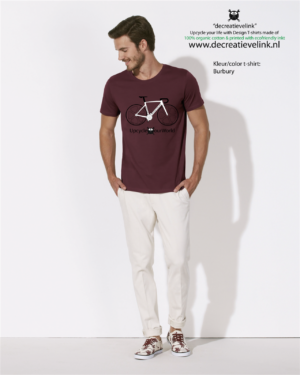 Decreatievelink Fair Wear T-shirt Kleur Burgundy