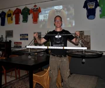 Lichtfiets Campione Del Mondo Tom Dumoulin Tijdrit Bergen 2017