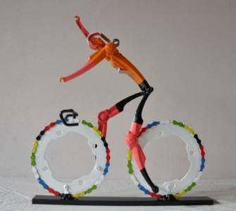 Team NL Wielrenner Overwinning Handen Los Fietskunst Decreatievelink