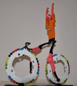 Team NL Wielrenner Overwinning Handen Omhoog Fietskunst Decreatievelink