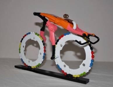 Team NL Wielrenner Sprint Fietskunst Decreatievelink