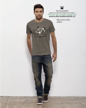 UpCycle Our World Heren T-shirt Kleur Walnut