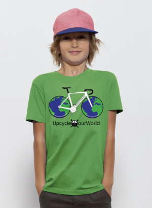 Upcycle Our World Kids T-shirt Groen