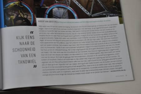 Artikel Fietskunst Blz 55 Bicycling Magazine Editie 4 2019