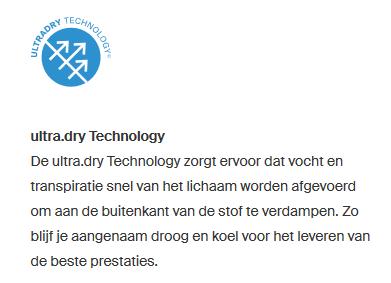 Detail Ultradry Technology