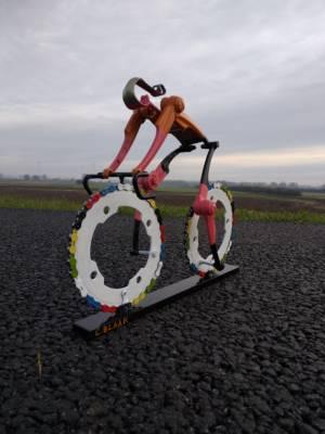 Fietskunstwerk Wielrenster TeamNL Versie Chantal Blaak