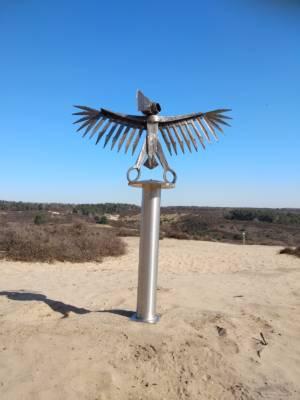 Iron Eagle Sculpture Posbank Rheden Netherlands