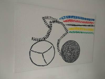 Schilderij Wk Wielrennen Tijdrijder Painting Time Trial