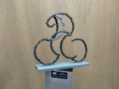 Sculptuur Fietser 3d Bicycle Art Cyclist Fietskunst Decreatievelink