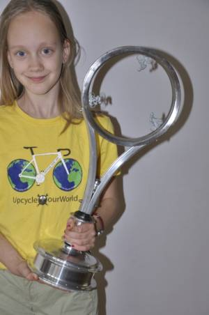 Sustainable Cycling Trophy Made By Dutch Cylingartist Hubert Van Soest